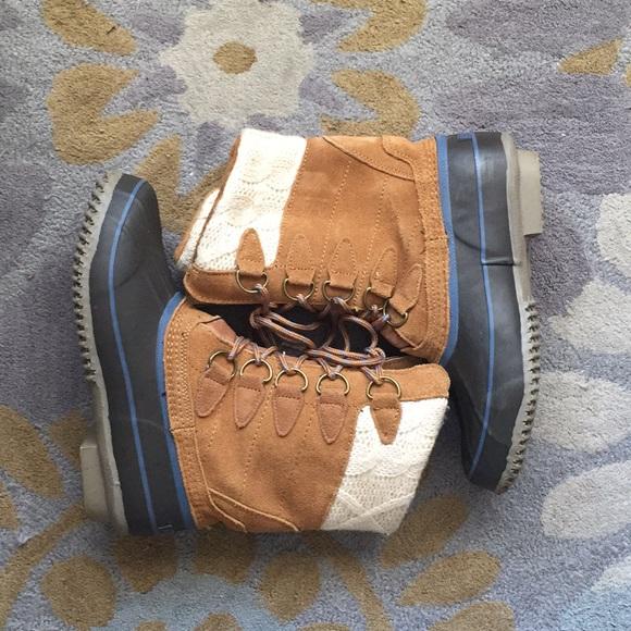 Khombu Shoes Cable Knit Top Boots Size 8 Poshmark